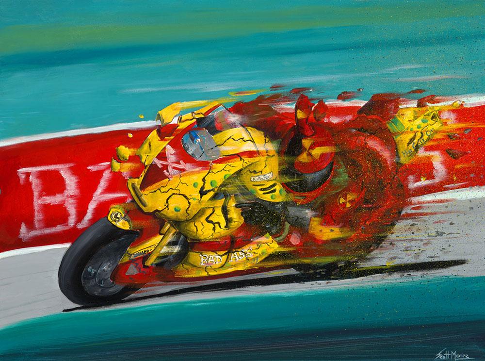 """Speed Oil on Panel 16""""x20"""""""
