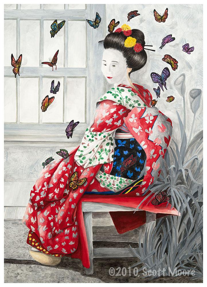 Geisha and Butterflies
