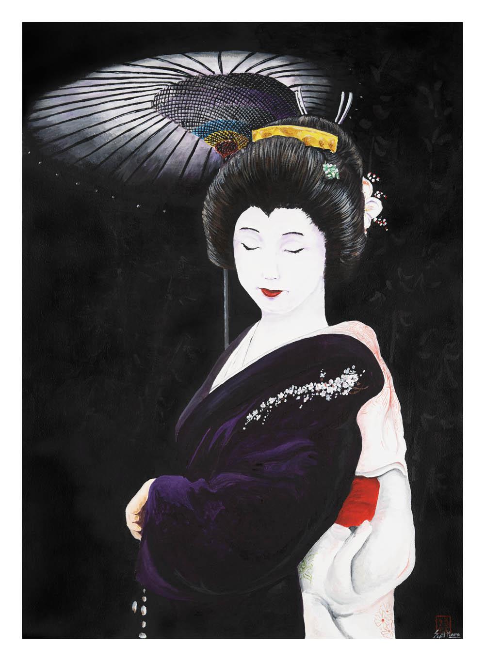 Geisha In Black